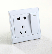 Europe and the united states sell well 2 gang 1 way switched socket