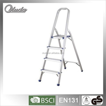 Household ladder square tube clamp with aluminum material, folding chairs with handrail, 4 steps