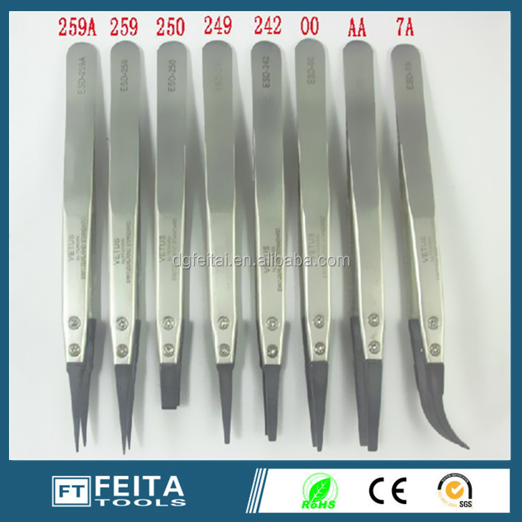 Best selling products hand tool Stainless steel ESD/ Anti-static Vetus tweezers