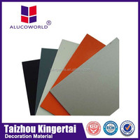 Alucoworld brushed aluminum cladding wall building material acp external wall acp decoration aluminum composite material