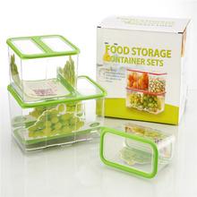 PP Food Storage , plastic food lock storage container set