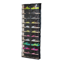 Over the door shoe rack 26 pockets Polyester shoe hanging organizer
