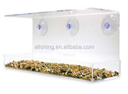 Wholesale Clear Window Family Diner, Four-Bird Capacity Small Bird Feeder 04