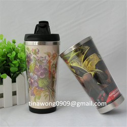 Wholesales new advertising insertable plastic tumbler with leak-proof lid