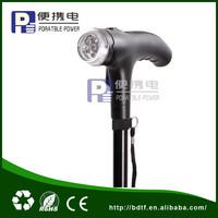 Hand crank dynamo aluminum telescopic crutch