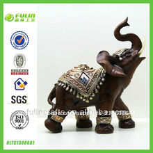 hotsale brown mesa de elefante de resina ornamento