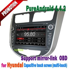 4.4 android car gps dvd with 3G WiFi Dongle for Hyundai Verna Accent Solaris 2011-2012 high quality