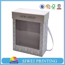 China factory customized printed paper gift box with clear window