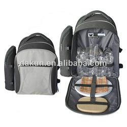 4 person picnic rucksack with bottle cooler bag