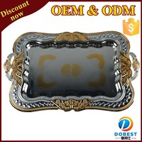 stainless steel serving tray/mirror tray/wedding decorative trays for India T238