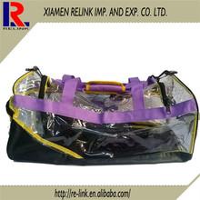 Nylon waterproof duffel bag,big high quality Vintage pvc travel duffel bag