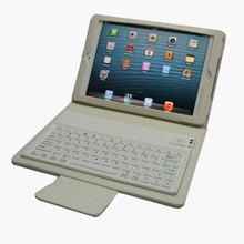 Silicone+pu leather bluetooth for ipad mini case with keyboard