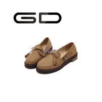 GD fashion side buckle soft bottom casual novelty flat shoes for women