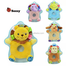 sozzy handbell, sozzy rattle, elephant, lion, monkey, dog, frog and giraffe characters to choose