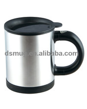 450ml new design write on coffee tea water mug With silicone lid
