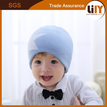 fashion blue five-pointed star knitted baby crochet hats