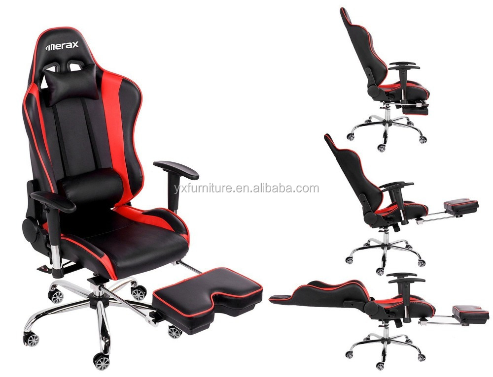 New Trend Sleeping Racing Office Chair With Fodable Foot