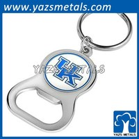 promotion advertising metal bottle opener key ring
