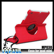 Korea hot model with magnetic 360 rotating case for ipad mini leather case