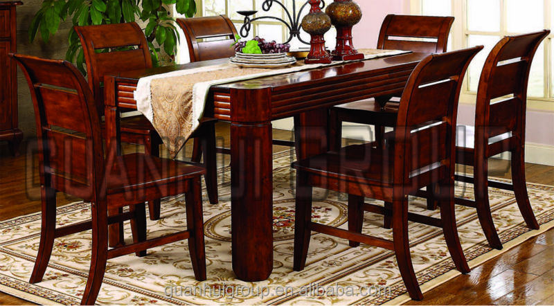 Dining room furniture solid wood restaurant chair and table set buy chair and table set - Restaurant dining room chairs ...