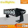 single row led light bars led off road light 100w 250 watt orienteering head lamp 250w led light bar 4x4