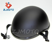 ZJMOTO Custom Low Profile Matt Black Bobber Open Face Biker Novelty Helmet OPEN FACE HELMET