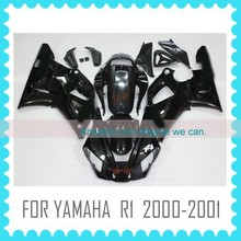 Black Aftermarket ABS Fairing For YAMAHA R1 2000-2001