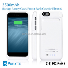 Hot Selling in America and UK Cell Phone Cover Battery Case 3200mAh 3500mAh For Apple iPhone 6 with ios8.1on alibaba In China