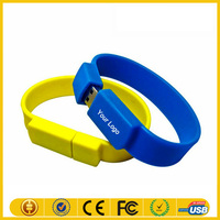 Customized Silicon USB Bracelet,Wristband USB Drive,Lady Watch Silicone PVC Flash Drive