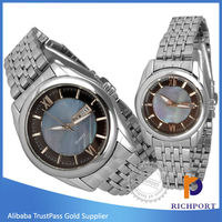 Japan Movt Quartz Watch Stainless Steel Back Couple Lover Wrist Watch