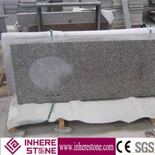 Low price prefab granite countertop 3 polished edges