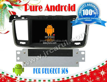 Pure android 4.4 in car dvd player For Peugeot 508 RDS ,GPS,WIFI,3G,support OBD,support TPMS