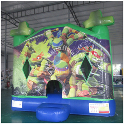 TMNT boy inflatable jumper,inflatable jumping castle with slide