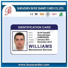 Plastic Pvc ID Card Printing With Photo