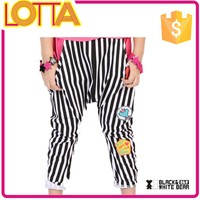 China Alibaba wholesale latest stripe harem pants for kids in summer