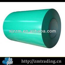 Fazer folha de telhado material de cor verde revestido bobina de aço zinco revestido bobina