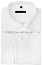 High end plain men's office shirt plain blank