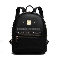 women leather backpack with rivets, backpack leather