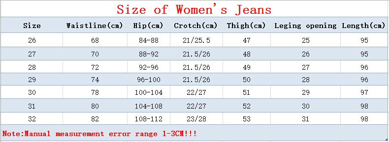 women's jean size