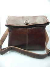 2015Fashion Genuine leather shoulder bag for men