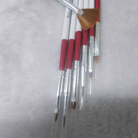 Plastic hand 7pcs nail art brush set fashion nail dust brush