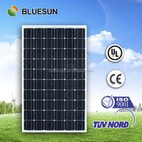 Bluesun high quality mono 260watt pv solar module price list solar power panel