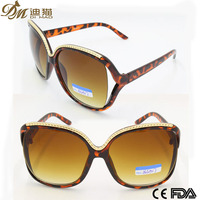 2015 big demi frame with delicate metal novelty cat eye fashion woman sunglasses