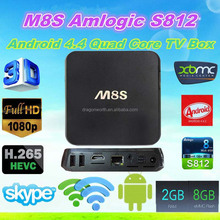 Vsspeed New Amlogic S812 2.0GHz H.265 4K BT 4.0 AP6330 Quad Core Android 4.4 Quad Core TV Box ENY EM8S M8S