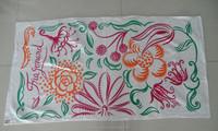 towel in stock reactive printed promotional beach towel