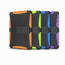 Stylish PC+Silicone Heavy Duty Hybrid Case for iPad mini 4, For iPad mini 4 Silicon Case With Back Cover Kickstand Design