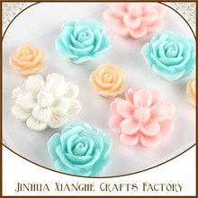 2015 wholesale xianghe resin rose,resin flowers,resin embellishments for crafts and scrapbooking