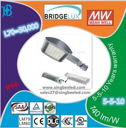 100w street light led with 5 years warranty IP66 UL DLC ENEC Meanwell driver