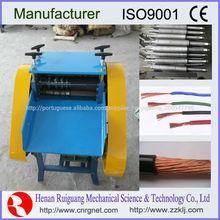 Scrap máquina de descascamento do fio, máquina de descascador de fios elétricos
