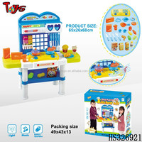 High quality light and music fashion toy modern kitchen toy set